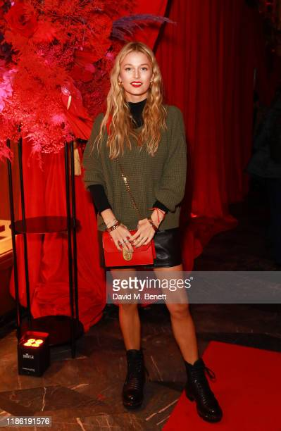 Lily Travers attends the Christian Louboutin launch party for the Elisa bag at Burlington Arcade on November 07 2019 in London England