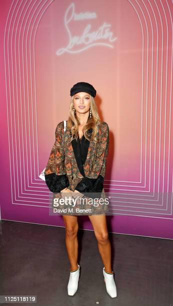 Lily Travers attends the Christian Louboutin Wonderland launch of 'Run Loubi Run' at Unit London on February 15 2019 in London England
