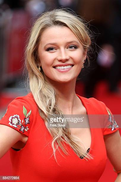 Lily Travers attends the European film premiere Me Before You at The Curzon Mayfair on May 25 2016 in London England