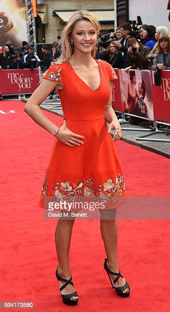 Lily Travers attends the European Premiere of Me Before You at The Curzon Mayfair on May 25 2016 in London England