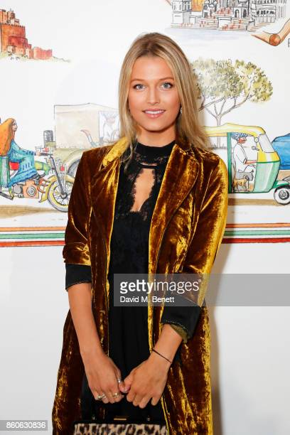 Lily Travers attends the Travels to My Elephant racer sendoff party hosted by Ruth Ganesh Ben Elliot and Waris Ahluwalia in association with The...