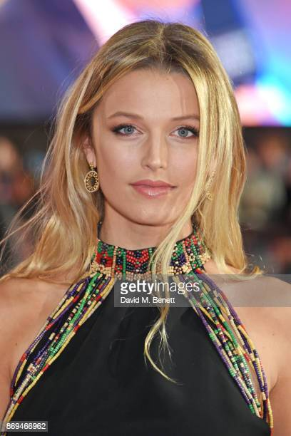 Lily Travers attends the World Premiere of Murder On The Orient Express at The Royal Albert Hall on November 2 2017 in London England