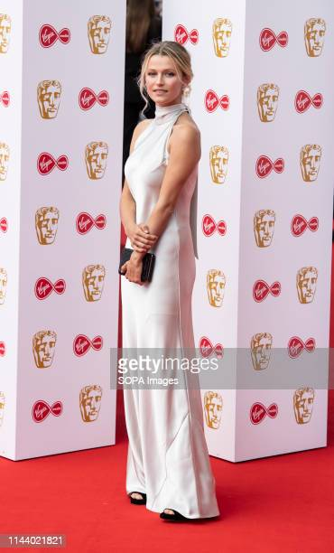 Lily Travers seen on the red carpet during the Virgin Media British Academy Television Awards at The Royal Festival Hall in London