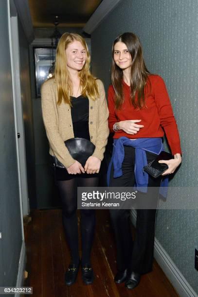Lily Waronker and Clara Balzary attend Jenni Kayne Fall 2017 Collection Launch Dinner at Gjelina on February 8 2017 in Venice California