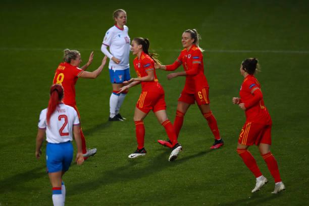 GBR: Wales Women v Faroe Islands Women - UEFA Women's EURO 2022 Qualifier