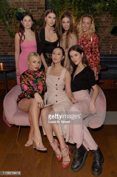 Lily Worcester Fae Williams Sabrina Percy Betty Bachz Amber Le Bon Frankie Herbert and Jemima Cadbury attend Valentine's Day dinner hosted by...