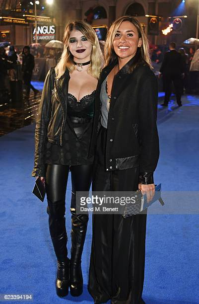 Lilyella Zender and Melanie Blatt attend the European Premiere of 'Fantastic Beasts And Where To Find Them' at Odeon Leicester Square on November 15...