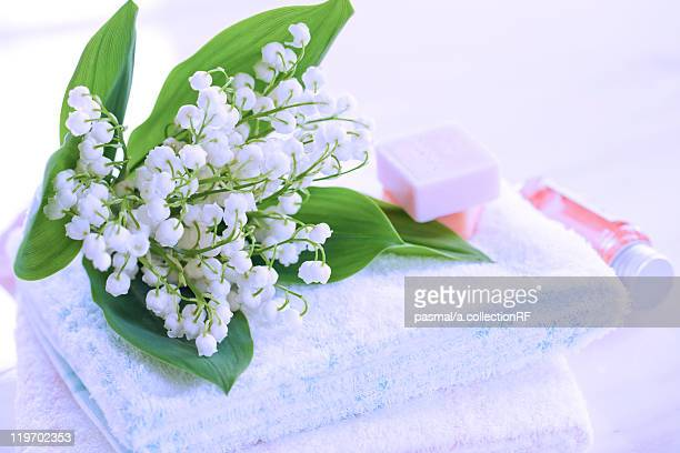 Lily-of-the-valleys on Towel