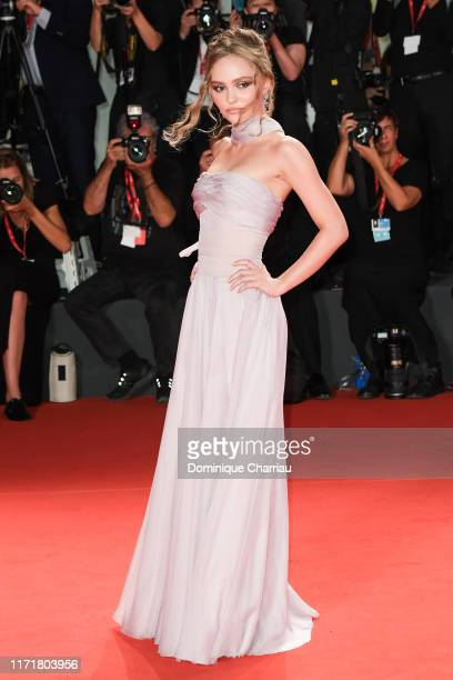 LilyRose Deep attends The King red carpet during the 76th Venice Film Festival at Sala Grande on September 02 2019 in Venice Italy