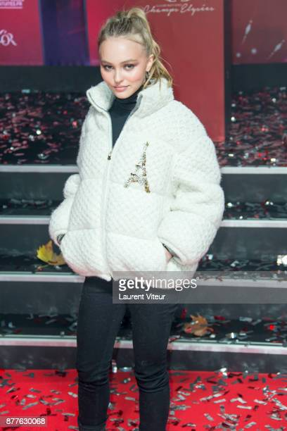 LilyRose Deep launch Christmas Lights on the Champs Elysees on November 22 2017 in Paris France