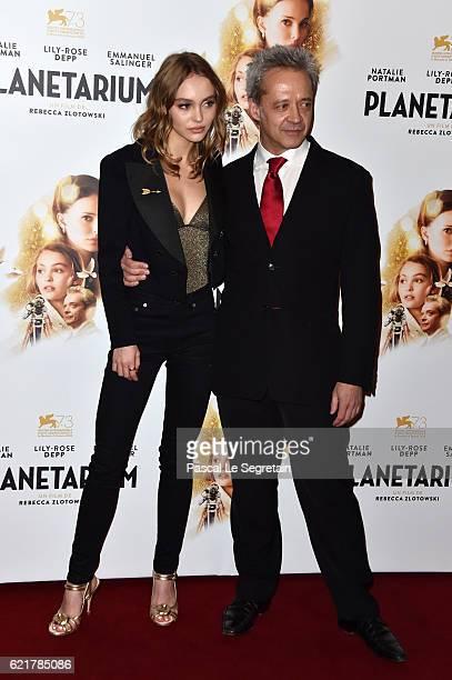 LilyRose Depp and Emmanuel Salinger attend Planetarium Paris Premiere at Le Grand Rex on November 8 2016 in Paris France