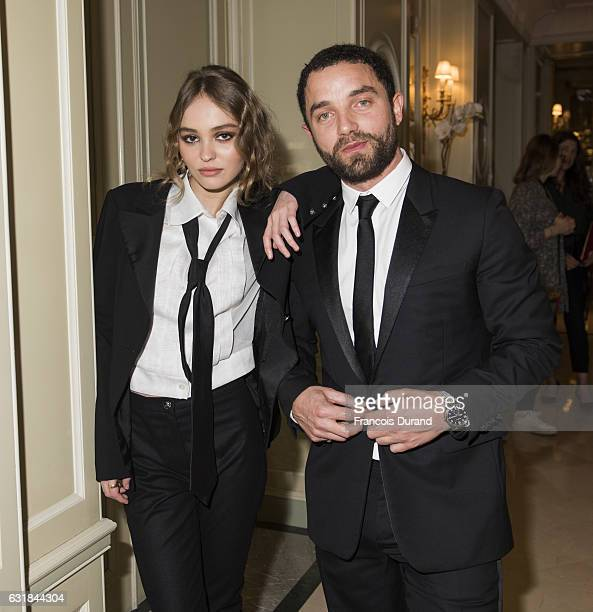 LilyRose Depp and Guillaume Gouix attend the Cesar Revelations 2017' Photocall at the Salon Chaumet on January 16 2017 in Paris France