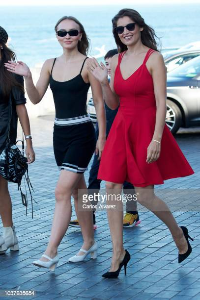 LilyRose Depp and Laetitia Casta attend 'L'Homme Fidele' Photocall at Aquarium on September 22 2018 in San Sebastian Spain