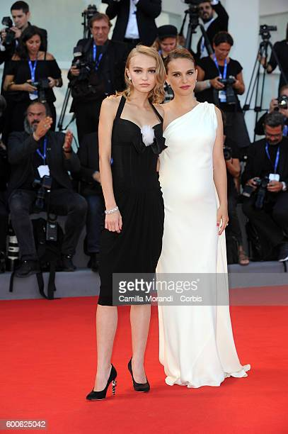 LilyRose Depp and Natalie Portman attend a premiere for 'Planetarium' during the 73rd Venice Film Festival at Palazzo del Cinema on September 8 2016...