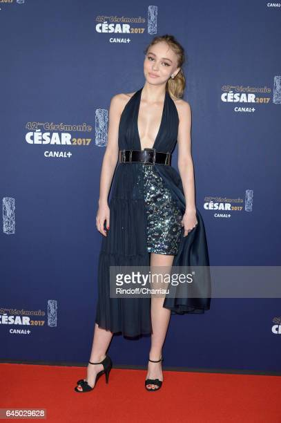 LilyRose Depp arrives at the Cesar Film Awards Ceremony at Salle Pleyel on February 24 2017 in Paris France