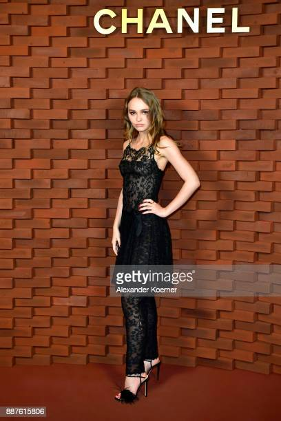 LilyRose Depp arrives for the Chanel Collection Metiers d'Art Paris Hamburg 2017/18 at The Elbphilharmonie on December 6 2017 in Hamburg Germany