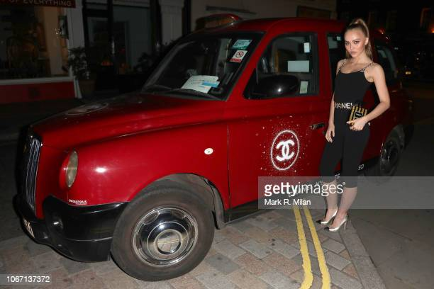 LilyRose Depp arriving at Annabel's club on November 13 2018 in London England