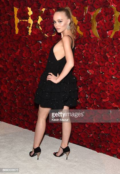 LilyRose Depp attends 2017 WWD Honors at The Pierre Hotel on October 24 2017 in New York City