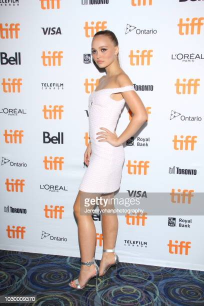 LilyRose Depp attends A Faithful Man Premiere during 2018 Toronto International Film Festival at Scotiabank Theatre on September 9 2018 in Toronto...