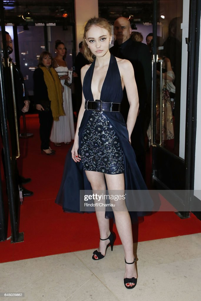 Lily-Rose Depp attends Cesar Film Award 2017 at Salle Pleyel on February 24, 2017 in Paris, France.