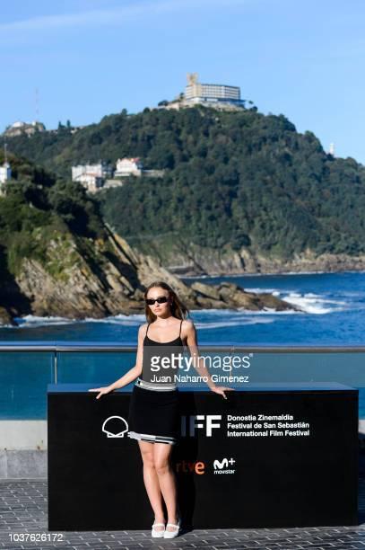 LilyRose Depp attends 'L'Homme Fidele' Photocall at Aquarium on September 22 2018 in San Sebastian Spain