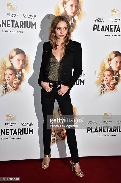 LilyRose Depp attends Planetarium Paris Premiere at Le Grand Rex on November 8 2016 in Paris France