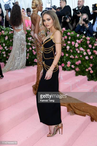 LilyRose Depp attends The 2019 Met Gala Celebrating Camp Notes On Fashion at The Metropolitan Museum of Art on May 06 2019 in New York City