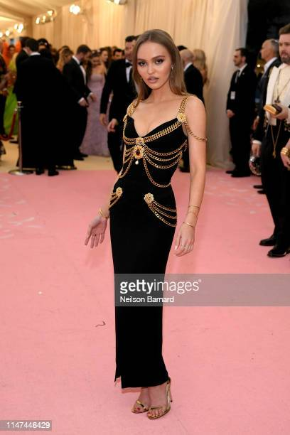LilyRose Depp attends The 2019 Met Gala Celebrating Camp Notes on Fashion at Metropolitan Museum of Art on May 06 2019 in New York City