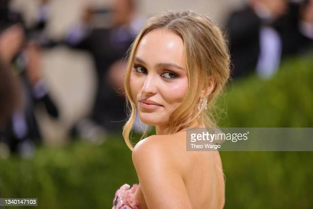 Lily-Rose Depp attends The 2021 Met Gala Celebrating In America: A Lexicon Of Fashion at Metropolitan Museum of Art on September 13, 2021 in New York...