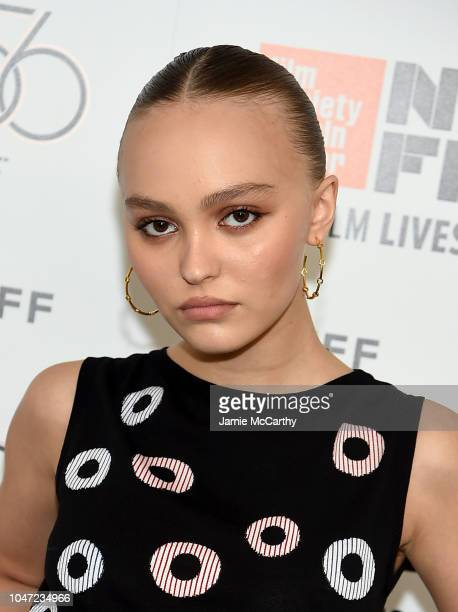 LilyRose Depp attends the 56th New York Film Festival A Faithful Man screening at Alice Tully Hall Lincoln Center on October 7 2018 in New York City