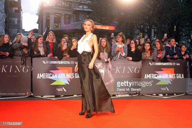 LilyRose Depp attends the American Airlines Gala screening of The King during the 63rd BFI London Film Festival at Odeon Luxe Leicester Square on...
