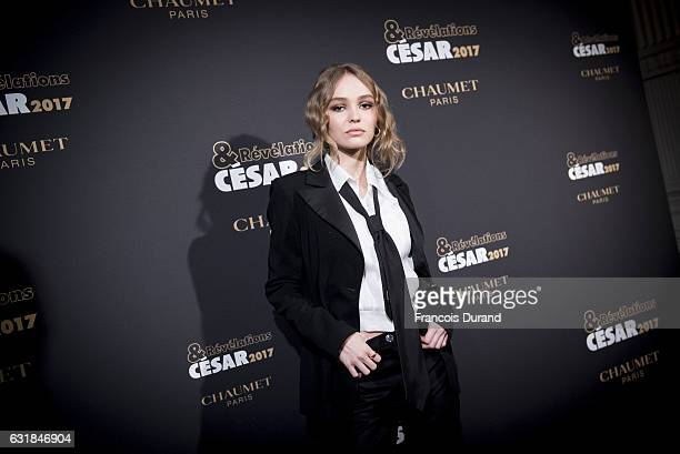 LilyRose Depp attends the Cesar Revelations 2017' Photocall at the Salon Chaumet on January 16 2017 in Paris France