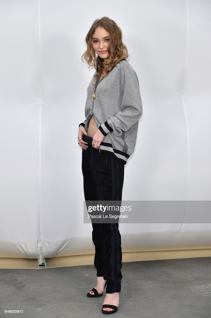 Lily-Rose Depp attends the Chanel show as part of the Paris Fashion Week Womenswear Fall/Winter 2017/2018 on March 7, 2017 in Paris, France.