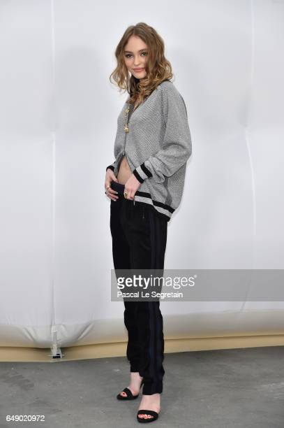 LilyRose Depp attends the Chanel show as part of the Paris Fashion Week Womenswear Fall/Winter 2017/2018 on March 7 2017 in Paris France