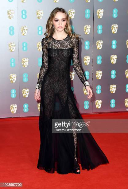 Lily-Rose Depp attends the EE British Academy Film Awards 2020 at Royal Albert Hall on February 02, 2020 in London, England.