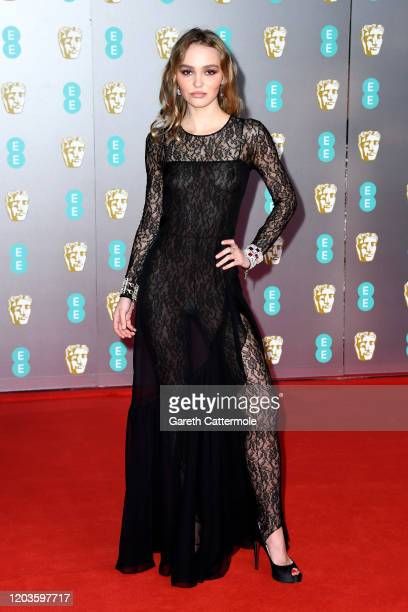 LilyRose Depp attends the EE British Academy Film Awards 2020 at Royal Albert Hall on February 02 2020 in London England
