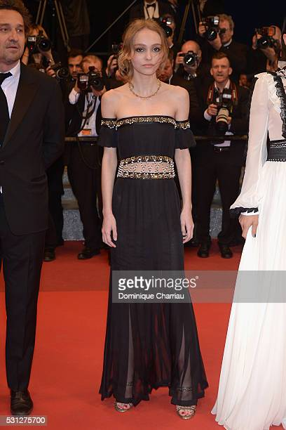 LilyRose Depp attends the 'I Daniel Black ' premiere during the 69th annual Cannes Film Festival at the Palais des Festivals on May 13 2016 in Cannes...
