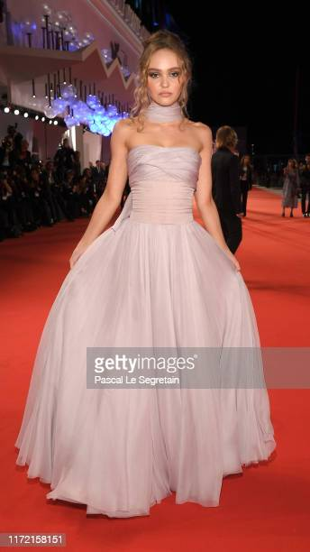LilyRose Depp attends The King red carpet during the 76th Venice Film Festival at Sala Grande on September 02 2019 in Venice Italy
