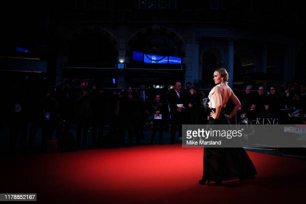 LilyRose Depp attends The King UK Premiere during the 63rd BFI London Film Festival at Odeon Luxe Leicester Square on October 03 2019 in London...