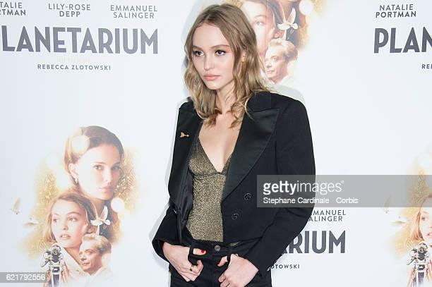 LilyRose Depp attends the 'Planetarium' Paris Premiere at Le Grand Rex on November 8 2016 in Paris France