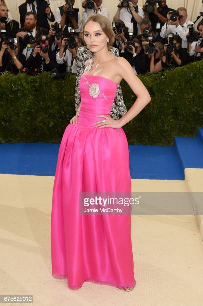 LilyRose Depp attends the 'Rei Kawakubo/Comme des Garcons Art Of The InBetween' Costume Institute Gala at Metropolitan Museum of Art on May 1 2017 in...