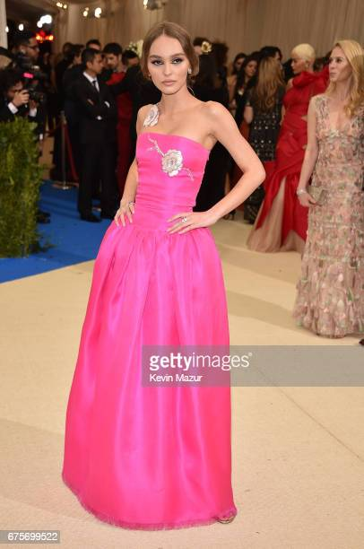 LilyRose Depp attends the Rei Kawakubo/Comme des Garcons Art Of The InBetween Costume Institute Gala at Metropolitan Museum of Art on May 1 2017 in...