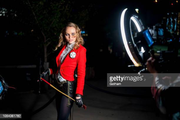 LilyRose Depp attends the V Magazine Halloween Party presented by Chanel at Jane's Carousel on October 26 2018 in Brooklyn New York