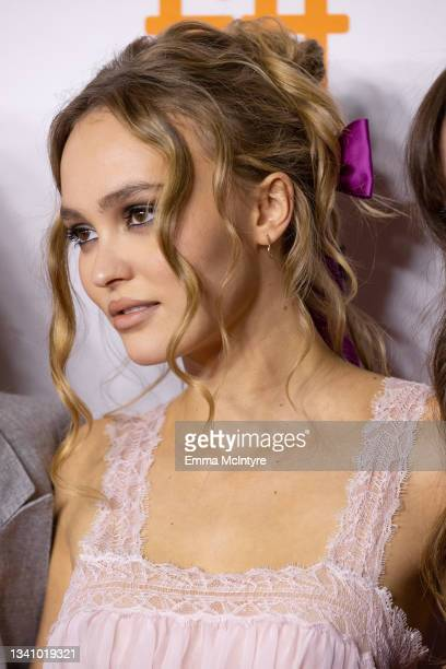 """Lily-Rose Depp attends the """"Wolf"""" Premiere during the 2021 Toronto International Film Festival at Princess of Wales Theatre on September 17, 2021 in..."""