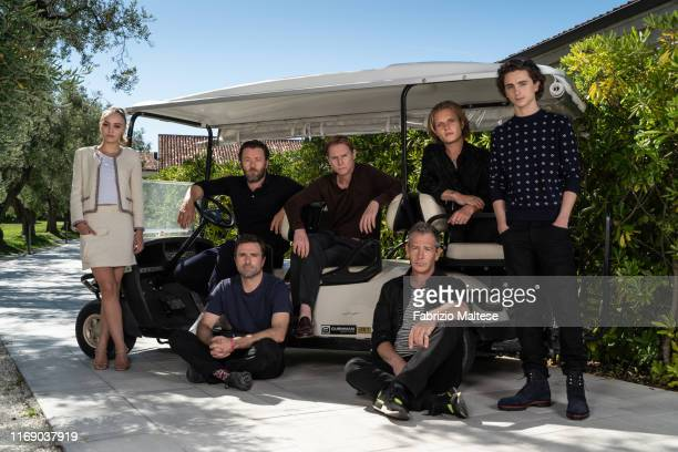 Lily-Rose Depp, David Michod, Joel Edgerton, Sean Harris, Ben Mendelson, Tom Glynn Carney & Timothee Chalamet from the movie 'The King' pose for a...