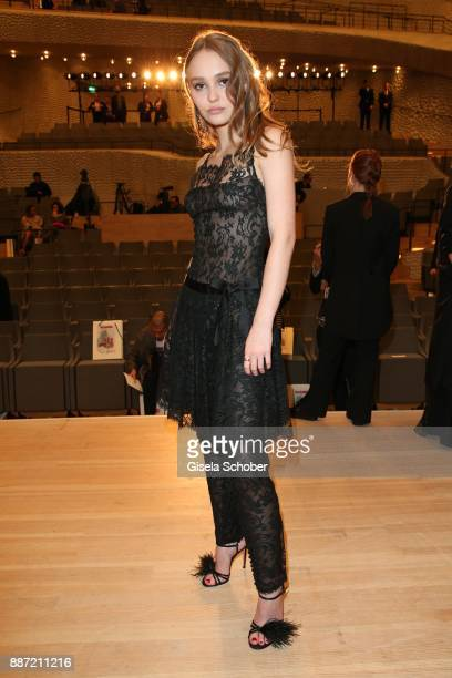 LilyRose Depp during the Chanel 'Trombinoscope' collection Metiers d'Art 2017/18 show at Elbphilharmonie on December 6 2017 in Hamburg Germany