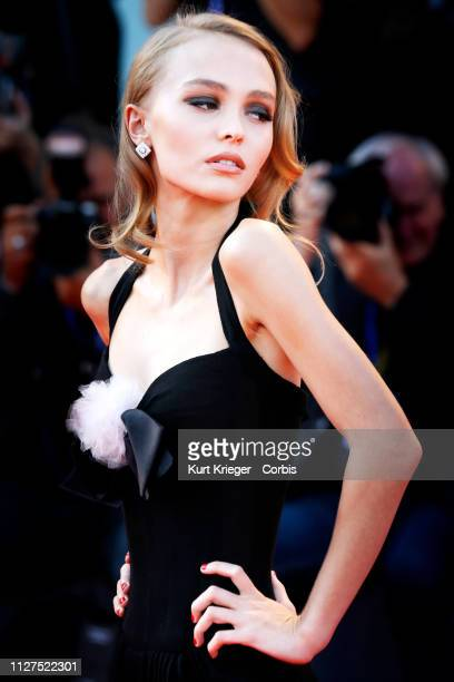 Lily-Rose Depp is photographed on the red carpet at the 'Planetarium' premiere at the 73rd Venice Film Festival on September 08, 2016 in Venice,...