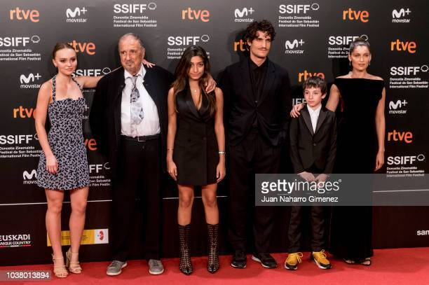 LilyRose Depp JeanClaude Carriere Kiara Carriere Louis Garrel Joseph Engel and Laetitia Casta attend the 'L'Homme Fidele' premiere during the 66th...