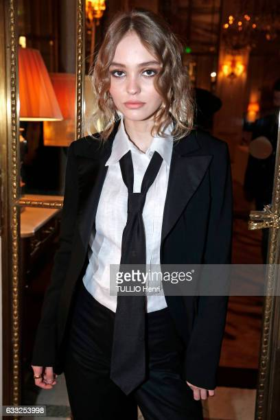 LilyRose Depp poses for Paris Match at the evening gala by Chaumet for the Young actors named for Les Cesars award 2017 on january 16 2017 in Paris...