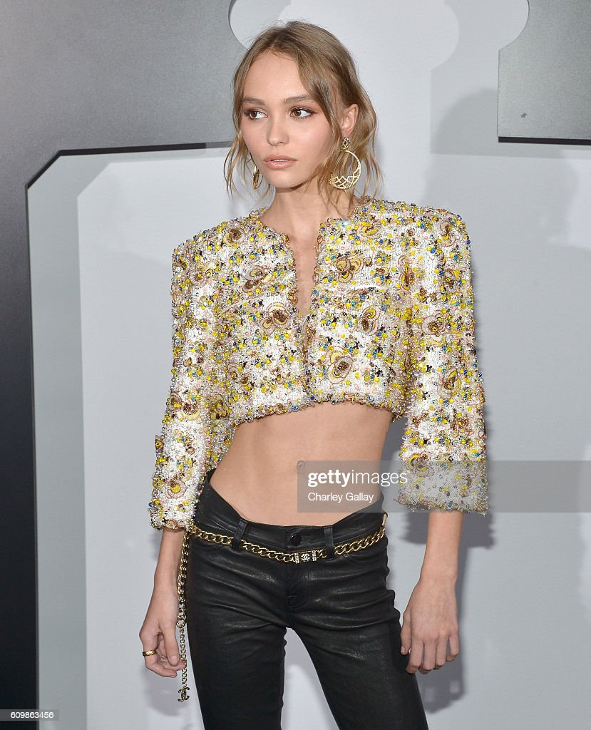 Lily-Rose Depp, wearing Chanel, attends the Chanel dinner celebrating N°5 L'Eau with Lily-Rose Depp at Sunset Tower Hotel on September 22, 2016 in West Hollywood, California.